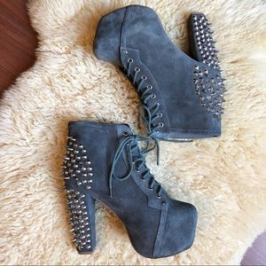 Jeffrey Campbell | Spike Lita- Grey Leather Size 9
